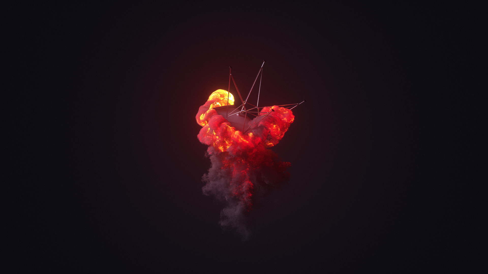Volume Rendering with Octane Render for Cinema 4D - Turbulence FD - Chair Explosion #1