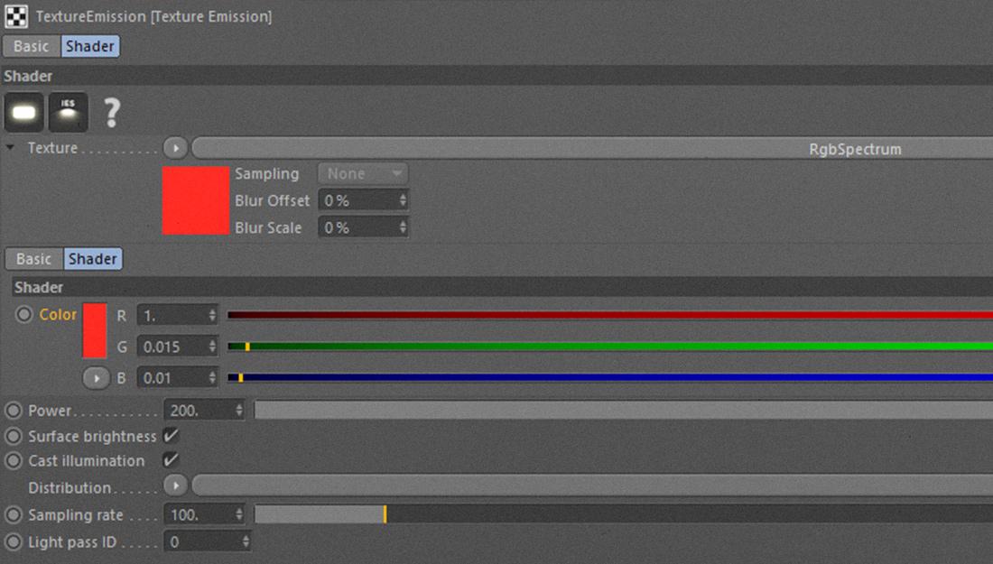 Mesh Emission with Octane Render for Cinema 4D