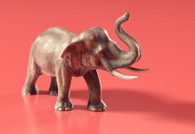 PhotoScanning an Elephant Toy with Agisoft