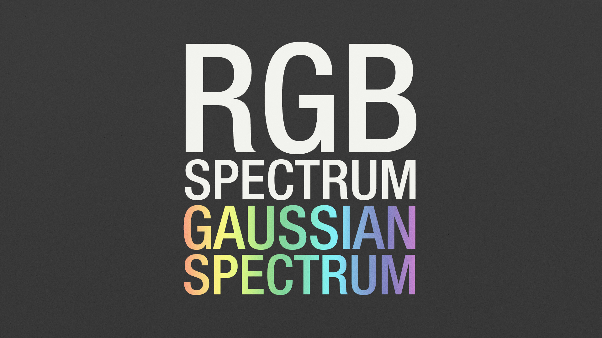 Octane Render How To: RGBSpectrum vs GaussianSpectrum