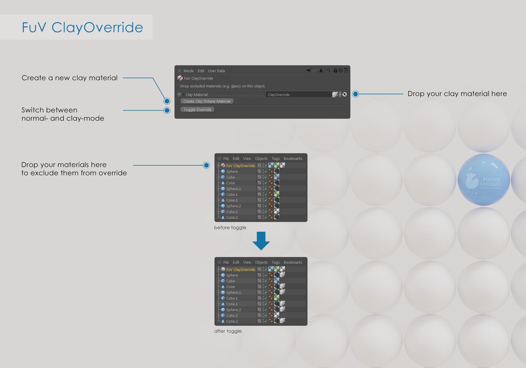Octane Render - ClayOverride Guide