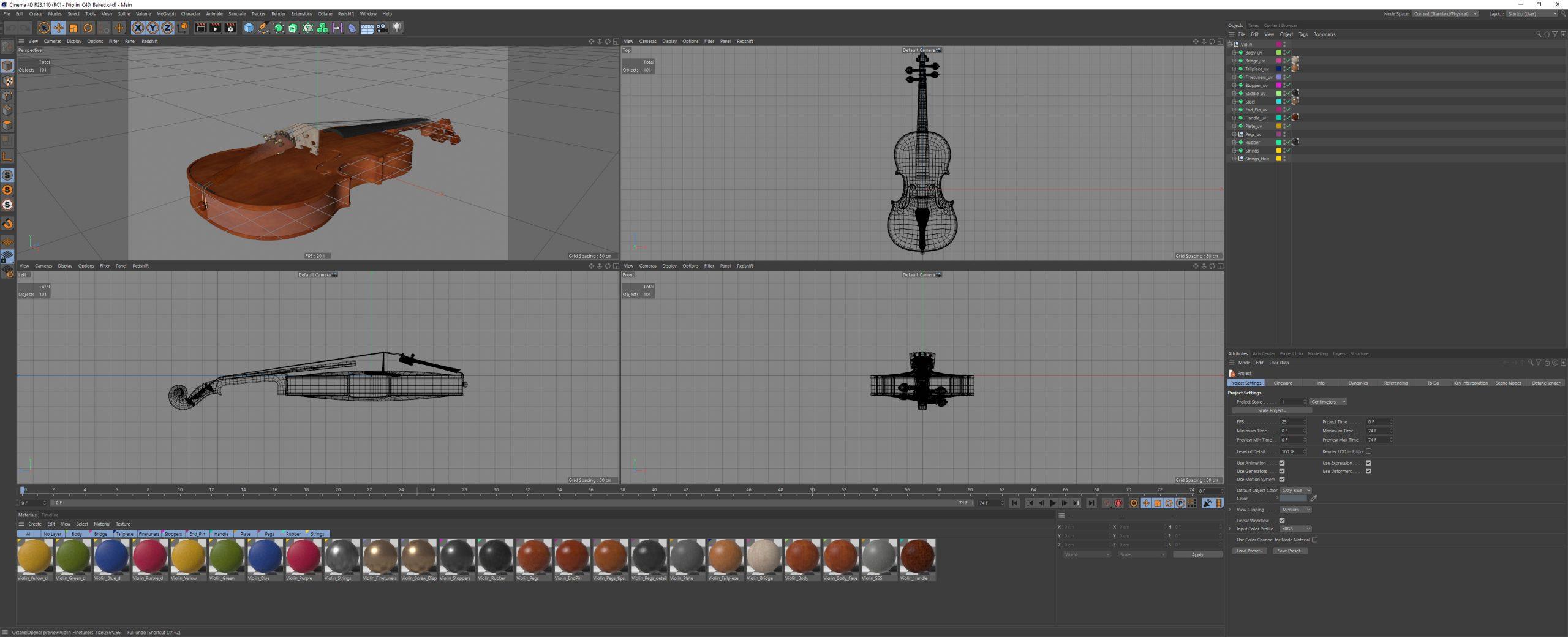 Violin_C4D_Preview
