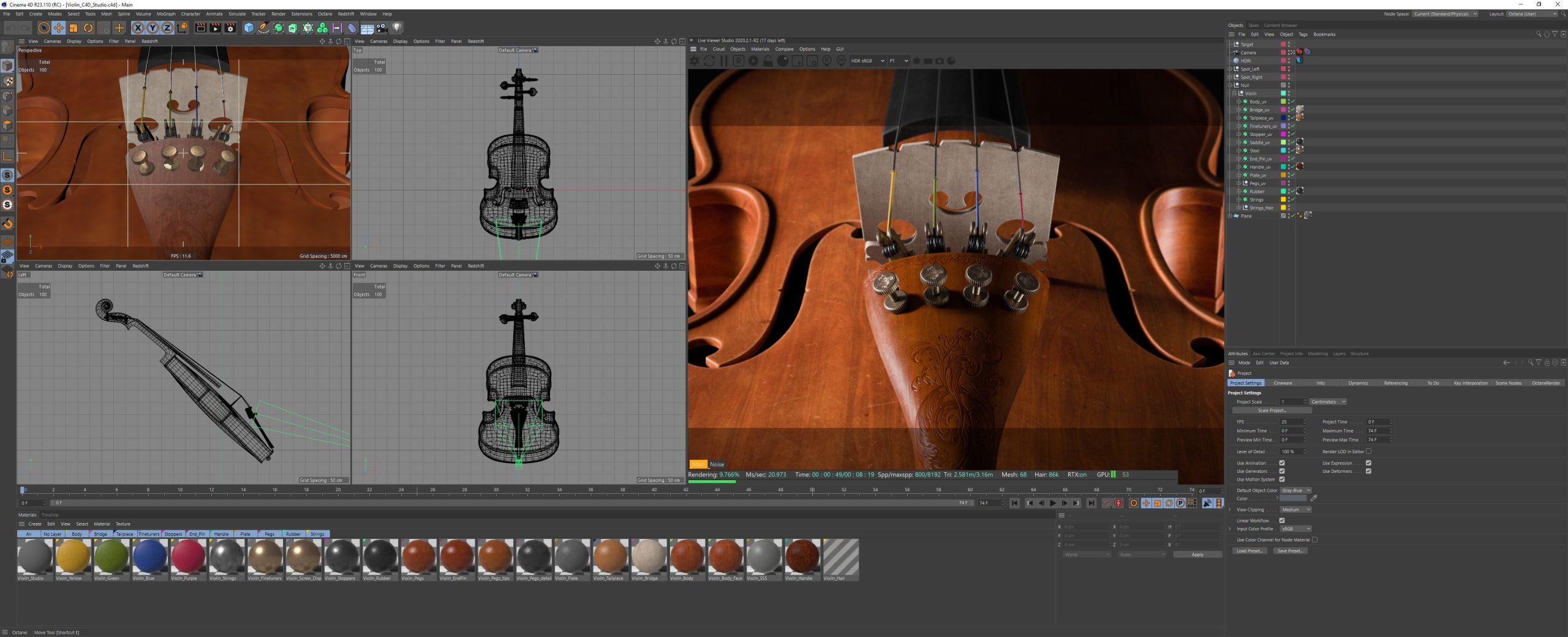 Violin_C4D_Studio_Preview